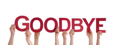 Veel mensen houden het Woord Goodbye, Geïsoleerde