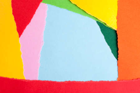 dodgy: Paper Background out of Many Different Colorful Pieces Stock Photo