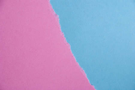 seaonal: Blue and Pink Paper Background out of two Pieces of Paper Stock Photo