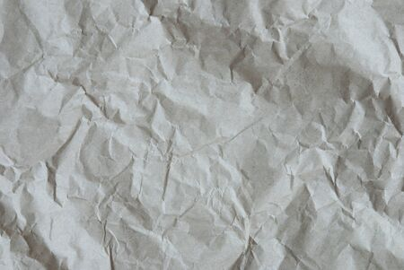 creasy: Crumpled Paper As Texture Or White Background. Rustic, Vintage Or Retro Styple. Copy Space For Advertisement Or Your Free Text Here