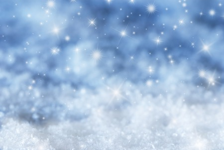 Christmas Texture With Sparkling Stars. Copy Space For Advertisement. Card For Seasons Greetings