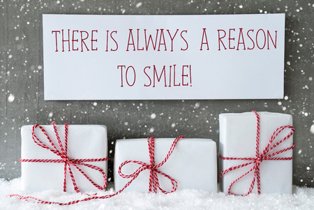 Good Cement Wall As Background With Snowflakes. Modern And Urban Style. Card For  Birthday Or Seasons Greetings. Label With English Quote There Is Always A  ...