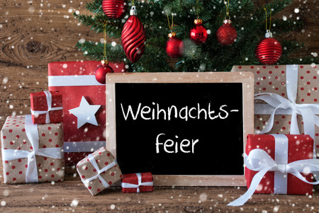 Chalkboard with german text weihnachtsfeier means christmas party chalkboard with german text weihnachtsfeier means christmas party colorful card for seasons greetings christmas m4hsunfo