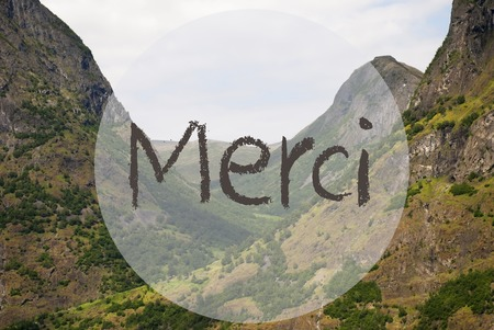 Valley And Mountain, Norway, Merci Means Thank You