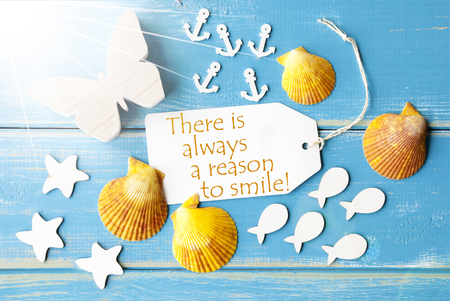 Sunny Summer Greeting Card With Quote Always Reason To Smile