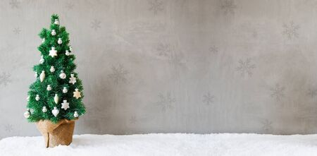 Fir Tree Banner, Snow, Copy Space, Christmas Ball Ornament