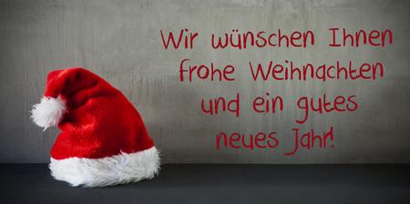 Santa Hat, Gutes Neues Jarh Means Happy New Year