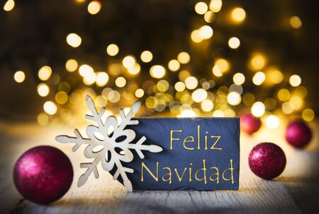 Background, Lights, Feliz Navidad Means Merry Christmas