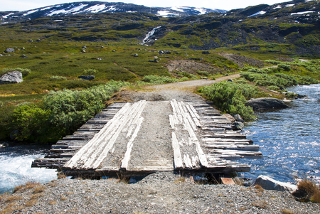 Bridge In Norway With Mountains