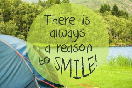 Lake Camping, Quote Always Reason To Smile