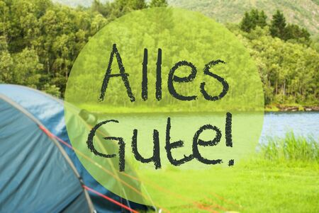 Lake Camping, Alles Gute Means Best Wishes Imagens