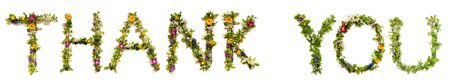 Flower And Blossom Letter Building Word Thank You