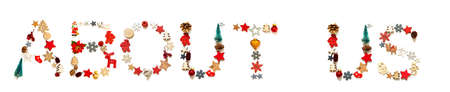 Colorful Christmas Decoration Letter Building Word About Us