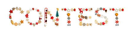 Colorful Christmas Decoration Letter Building Word Contest