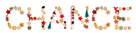 Colorful Christmas Decoration Letter Building Word Chance