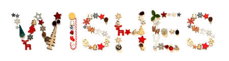 Colorful Christmas Decoration Letter Building Word Wishes
