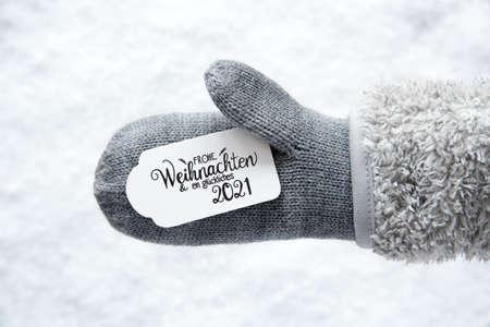 Gray Glove, Label, Snow, Glueckliches 2021 Means Happy 2021