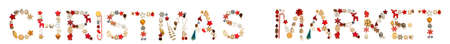 Colorful Christmas Decoration Letter Building Word Christmas Market