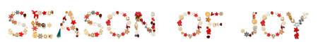 Colorful Christmas Decoration Letter Building Word Season Of Joy