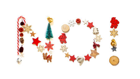 Colorful Christmas Decoration Letter Building Word No