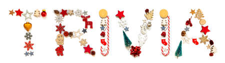 Colorful Christmas Decoration Letter Building Word Trivia
