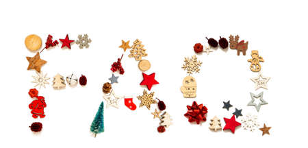 Colorful Christmas Decoration Letter Building Word FAQ