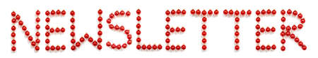 Red Christmas Ball Ornament Building Word Newsletter
