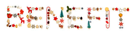 Colorful Christmas Decoration Letter Building Word Benefit