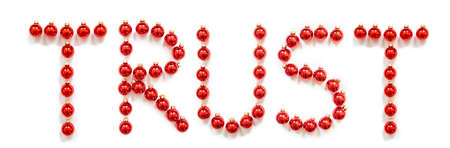 Red Christmas Ball Ornament Building Word Trust