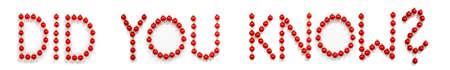 Red Christmas Ball Ornament Building Word Did You Know Zdjęcie Seryjne