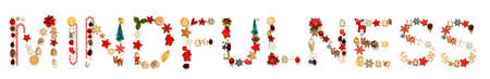 Colorful Christmas Decoration Letter Building Word Mindfulness
