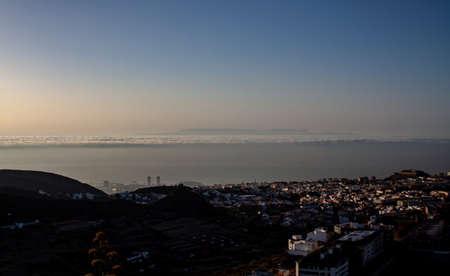 Fantastic view over Santa Cruz with Gran Canaria