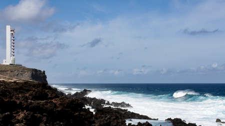 great lighthouse on the coast of Tenerife