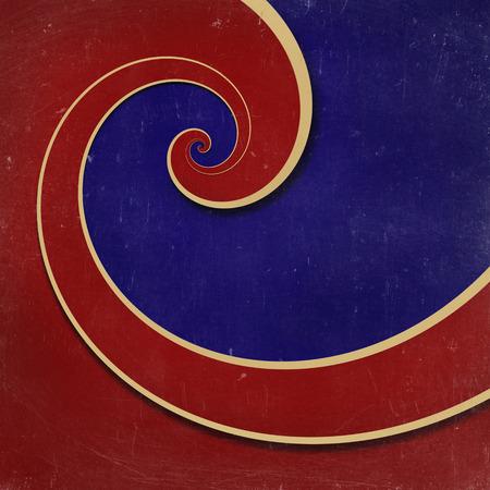 round back: infinity spiral grunge background