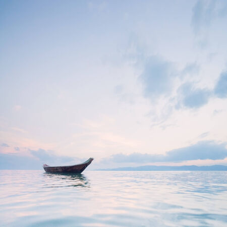 calm background: boat on the sea. keeo calm background