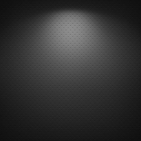 metal background: Black background of circle pattern texture Stock Photo