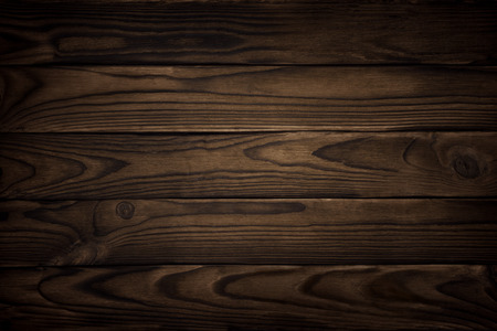 wooden panel: old wood texture, dark background Stock Photo
