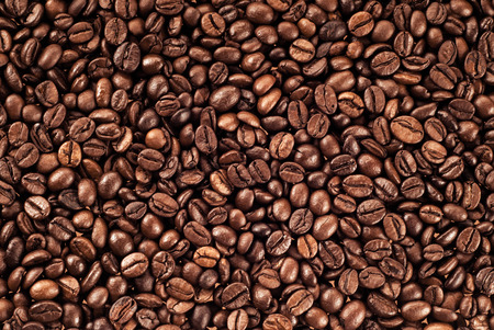frijoles: los granos de caf� fondo de la textura