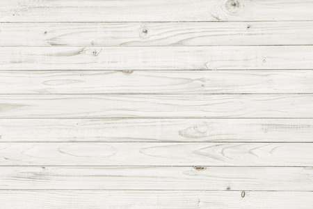 Vintage witte houten tafel bovenaanzicht. houten achtergrond