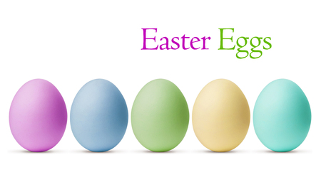blue egg: Colorful Easter Eggs isolated on white background with clipping path