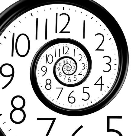 Unendlich Zeitspirale Uhr, abstrakten Hintergrund Standard-Bild - 34785245