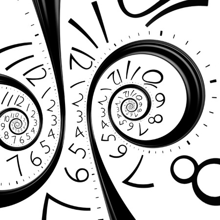 winder: infinity time spiral clock, abstract background