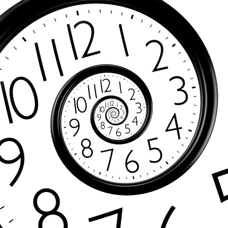 infinity time spiral clock, abstract background
