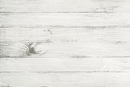 Vintage white wooden table top view. wood background photo
