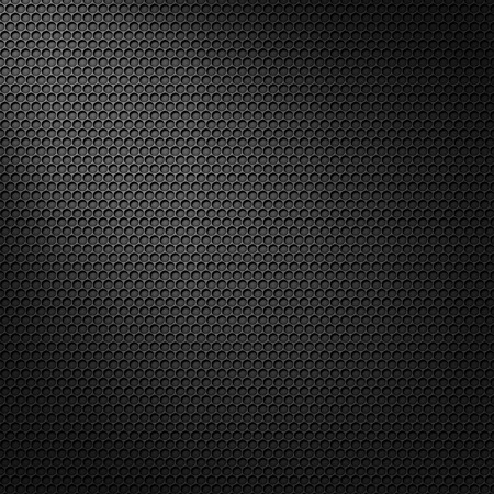 tech background: Black cell carbon pattern with spot light mask Stock Photo