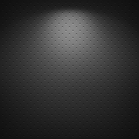 carbon fibre: Black background of circle pattern texture Stock Photo
