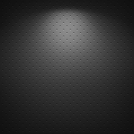 fibre: Black background of circle pattern texture Stock Photo