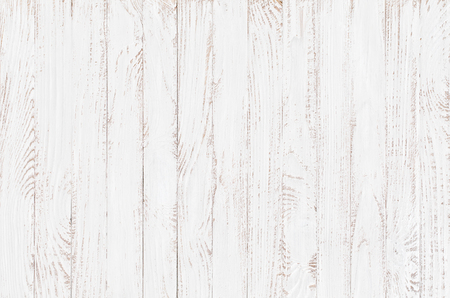 White Wood Texture Background, Wooden Table Top View Photo