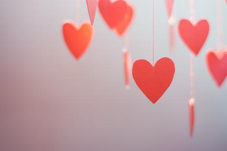 Rote Herzen Dekoration, abstrakten Hintergrund