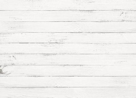 Vista superior del fondo de la mesa de madera blanca Foto de archivo